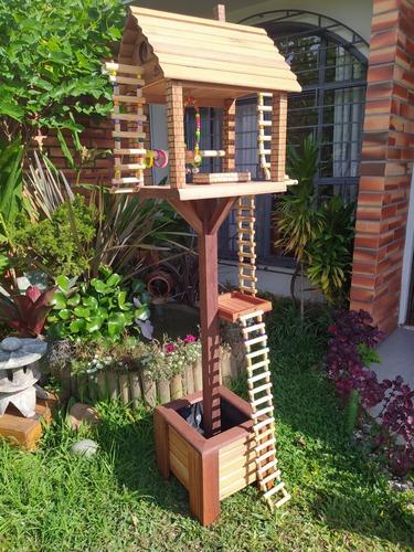 casinha playground para calopsita
