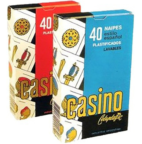 casino cartas naipes 40 plastificado nuevo original big.shop