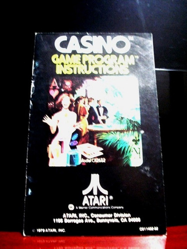 casino manual original == atari 2600