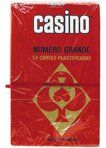 casino poker cartas 54 naipes plastificado n grande big.shop