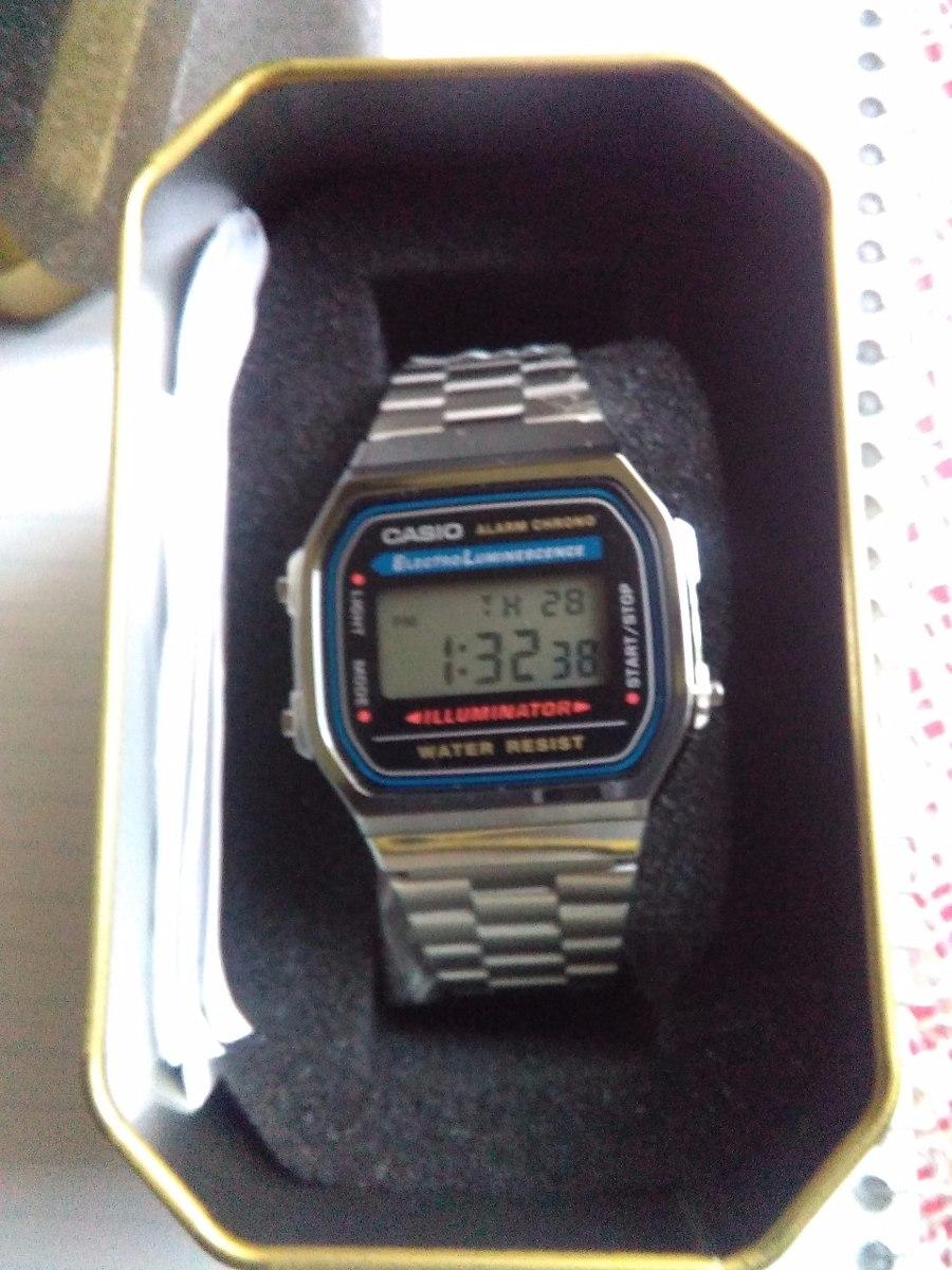 3788542d8aec casio a168 plata caballero nuevo y original caja vintage. Cargando zoom.