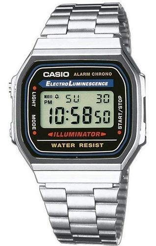 casio a168wa 1w retro alarma diaria 100% original