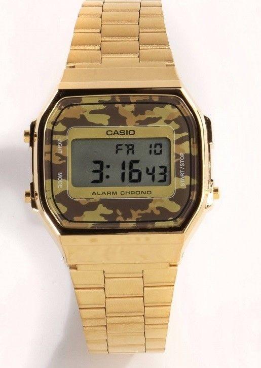Dorado 5 A168wegc De Acero Casio Camuflaje Reloj dxotsQhrBC
