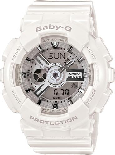 018c1fc8e2b3 Casio Baby G Shock - Reloj De Resina Blanco Ba-110-7a3 Para ...