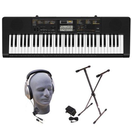 casio cª ctk2400 ppk 61-key paquete premium teclado...