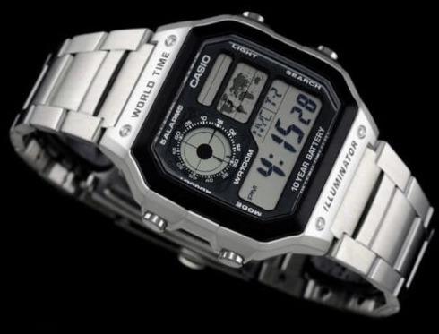 a19eec51a32 Relógio Casio Mapa Digital 5 Alarmes - Casio Ae-1200whd - R  189