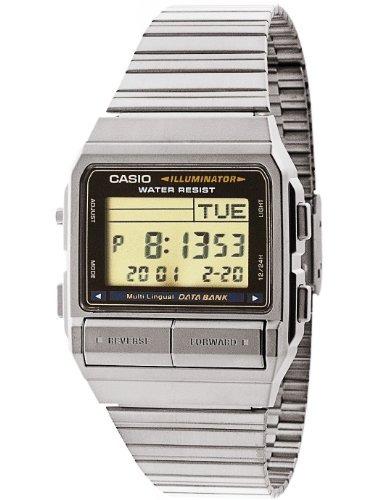 2c4a5d22bbf0 Casio Db3801d Casio Silver Reloj Digital Negro Plateado T ...