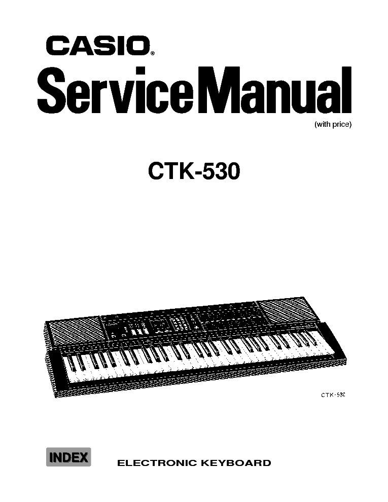 Casio ctk-530 manuals.