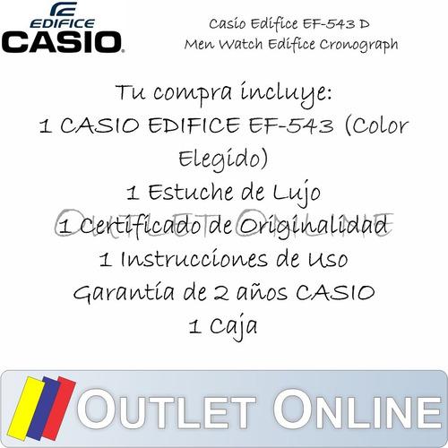 casio edifice ef 543 100% original + obsequio + envío gratis