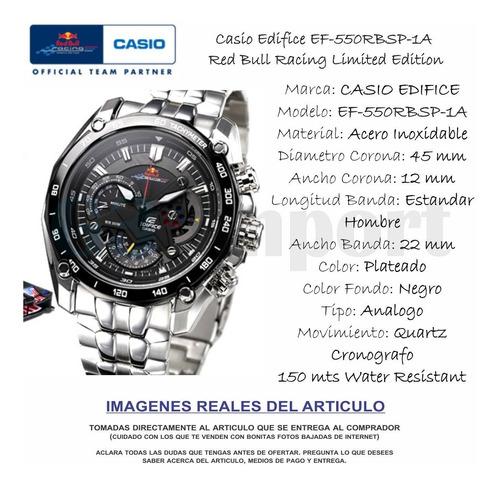 casio edifice redbull edition - 100% original - envío gratis