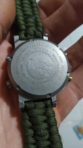 casio frogman titanium pulseira paracord