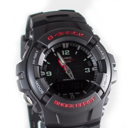 casio g-shock g-100-1bv anadigi color negro,manecilla roja