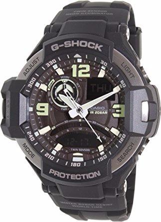 casio g shock ga 1000-1b/gravitymaster/brujula digital