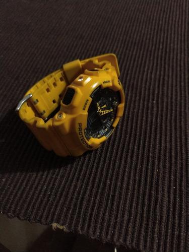 casio g-shock ga-100a-9a color amarillo