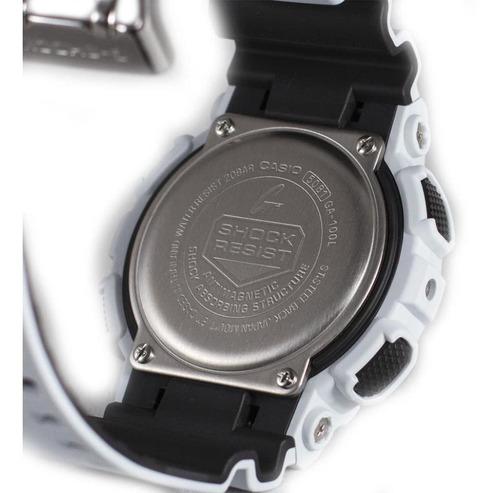 casio g-shock ga-100l-7a blanco/negro
