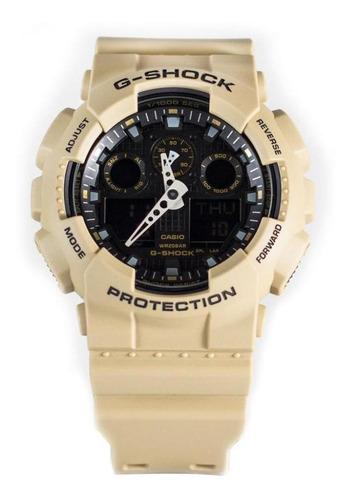 casio g-shock ga-100l-8a marrón claro/negro
