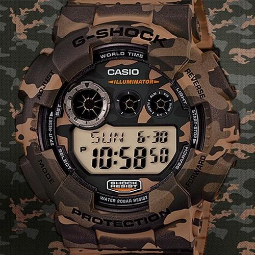 casio g shock gd 120 edición especial camuflaje / led
