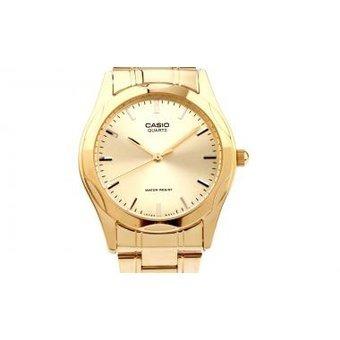 19db3613d9c4 Reloj Casio Para Hombre Mtp-1275g Bañado En Oro Resistente A ...