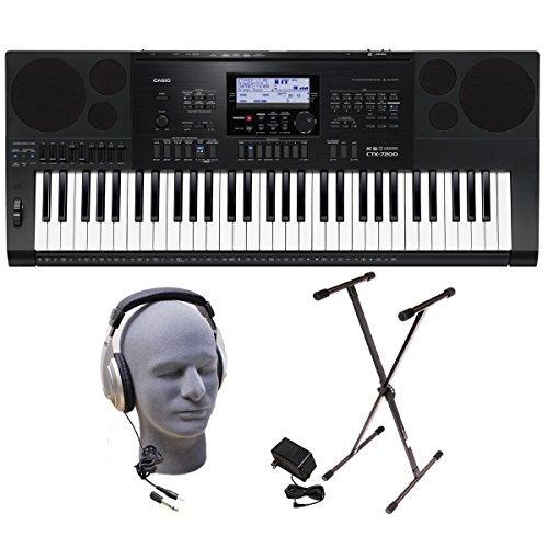 casio inc. ctk7200 ppk 61-key teclado paquete premium con a