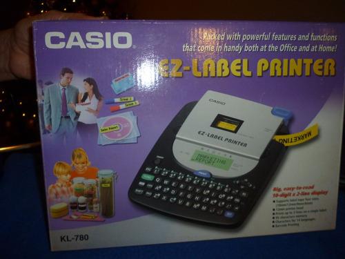 casio kl-780 impresora ez-label