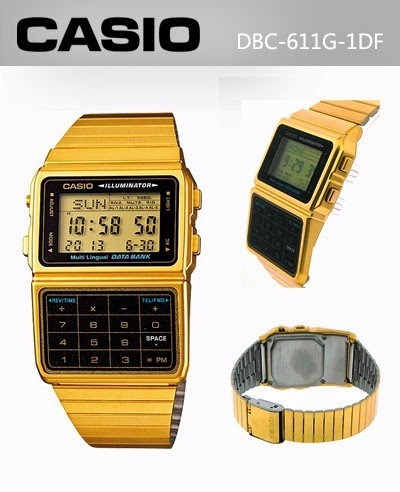 Relógio Casio Masculino Data Bank Dbc-611g-1df Calculadora - R  309 ... 52e0bb998d