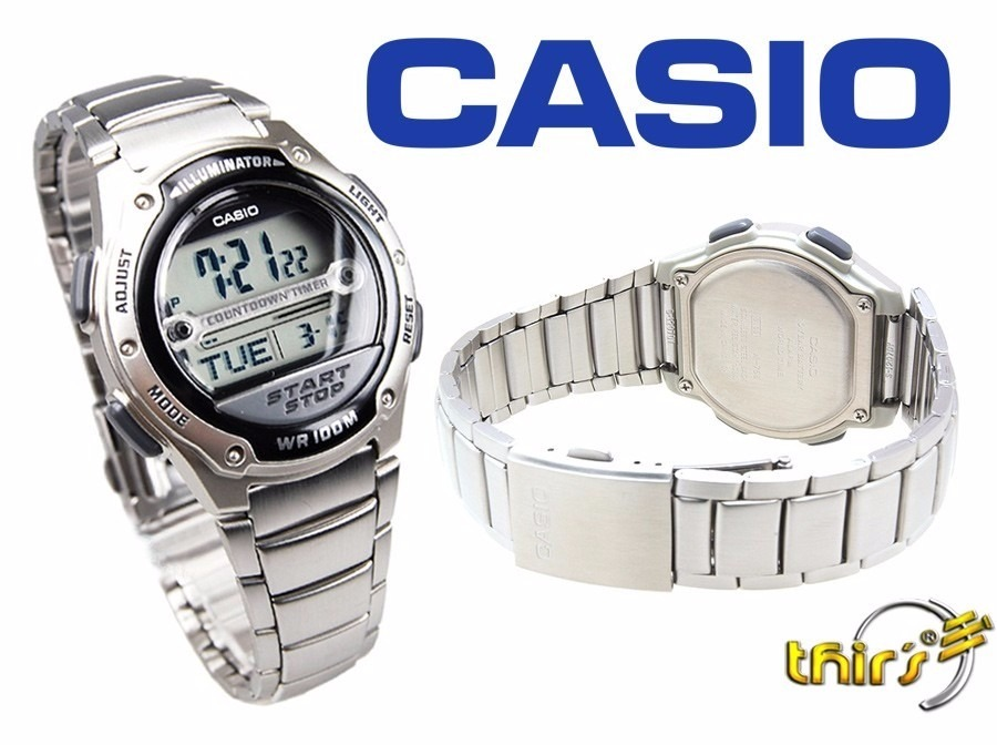 b319bf194b6 Relógio Casio Masculino Wr 100m Bateria 10 Anos W-756d-1avdf - R ...