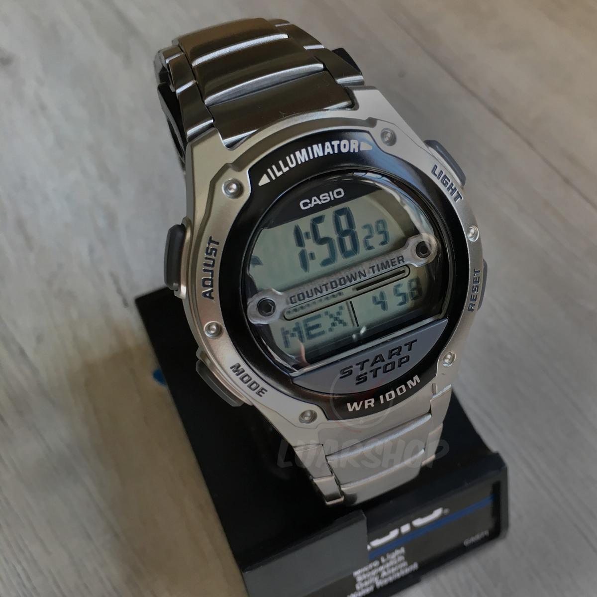05ec6cb2ced Carregando zoom... relógio casio digital masculino w756d temporizador  original