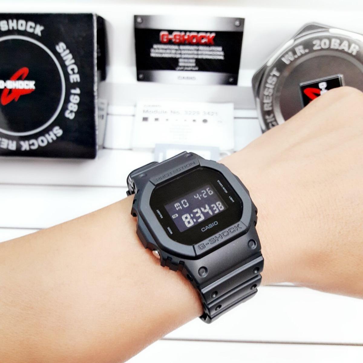 92572e0379a Relógio Casio G-shock Masculino Dw-5600bb-1dr Nf - R  419