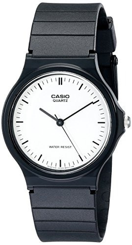 casio men's mq24-7e reloj casual con banda de resina negro