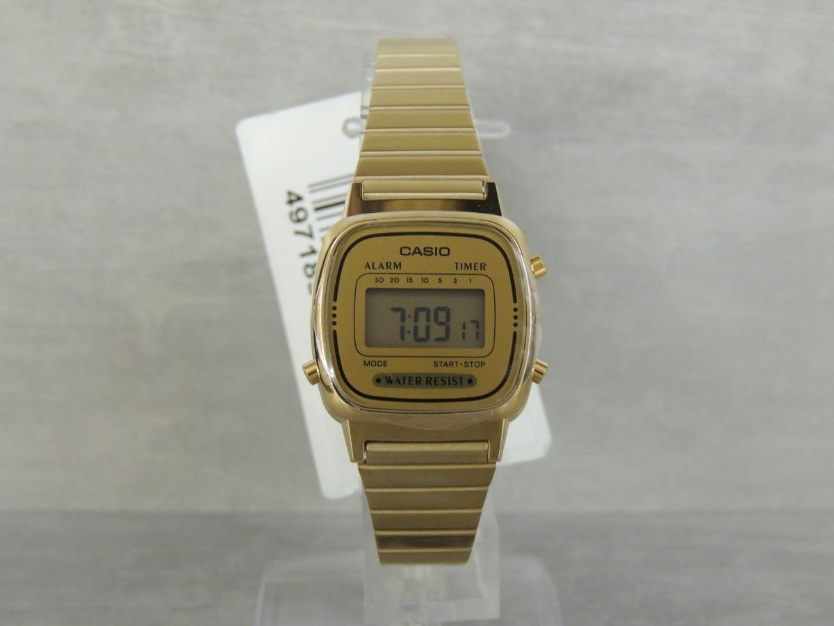 d9e3dc39cf7 Carregando zoom... relógio casio vintage mini la670wga-9df - nf e garantia