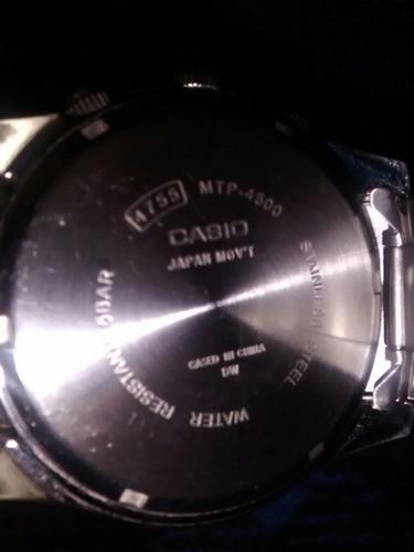 casio mtp-4500d-1avcf aviator de acero inoxidable cronografo