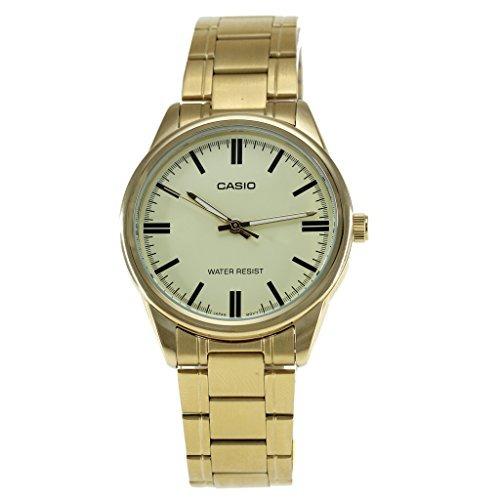 813df599f34b Casio   Mtp-v005g-9a Reloj Analogico Estandar Dorado En Tono ...