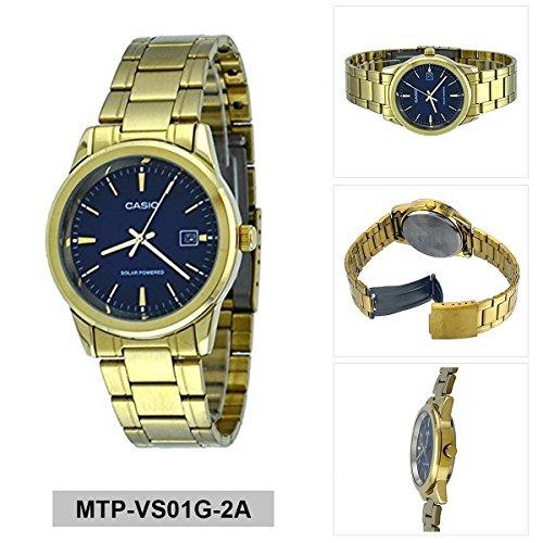 f676872776b4 Casio Mtp-vs01g-2a Reloj Solar De Fecha De Marcación En Ac ...