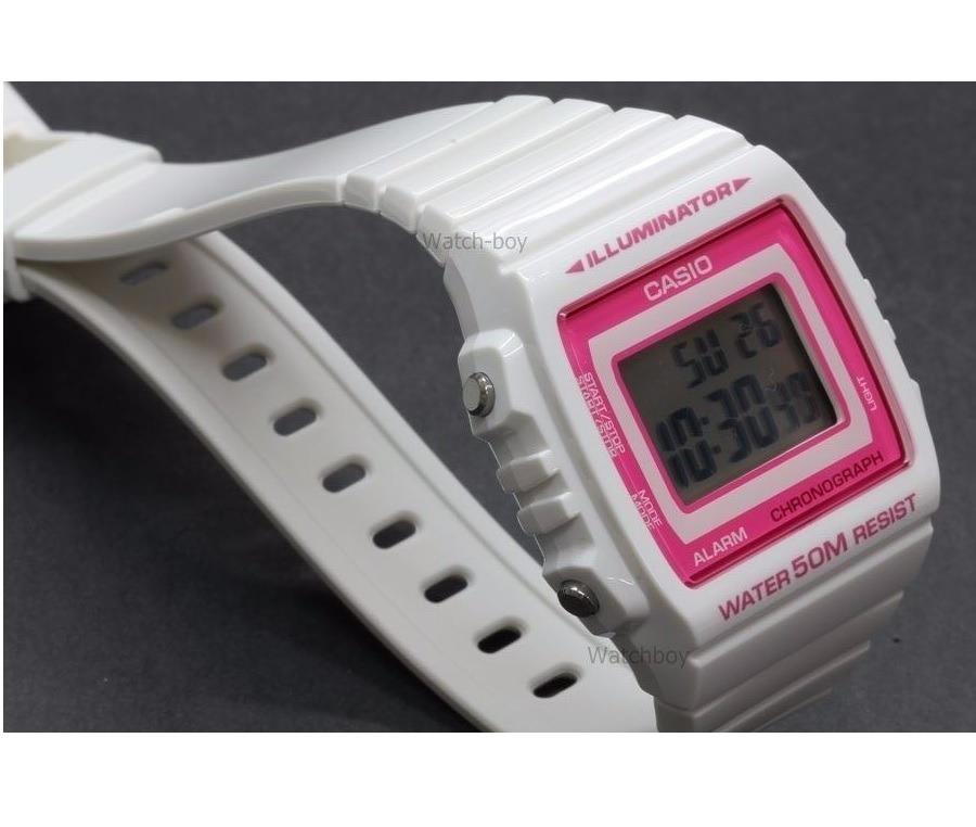 c6cfd0289f6a Cargando zoom... reloj casio vintage w-215h-7a2 sumergible 50m mujer blanco.  Cargando zoom.