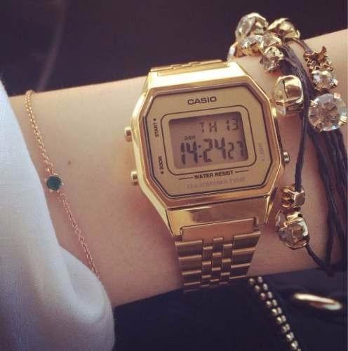 ac1a503661cd Reloj Retro Casio Dorado La680 Gold Mujer -   43.990 en Mercado Libre
