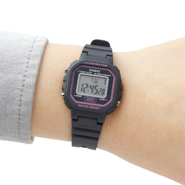 d027fed5589d Reloj Casio Collection La-20wh-8adf Digital Mujer Negro Rosa ...