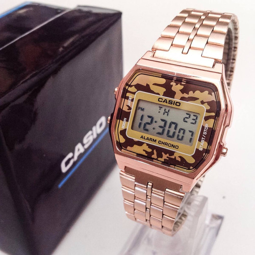 casio plata, rose gold, dorado, extensible acero, sumergible