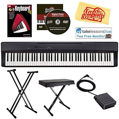 casio privia px-160 digital piano - black bundle with adjust