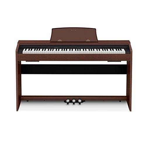casio px-770 bn privia digital home piano, brown