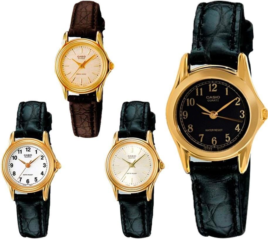 MujerLtp1096Resistente AguaCorrea Cuero Reloj De Casio OXuTPkZwi