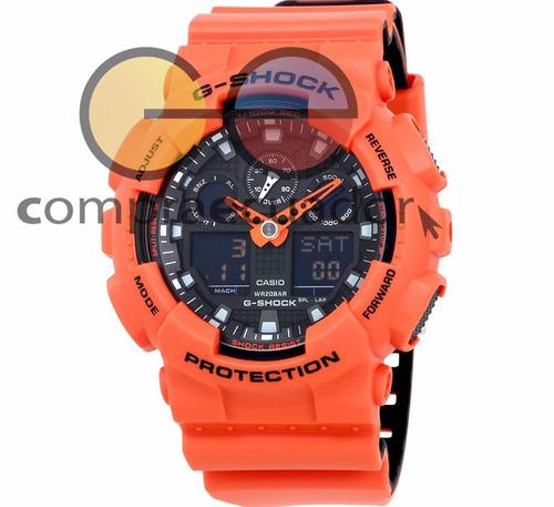 casio reloj g-shock ga-100l led 20 bar resistencia magnética