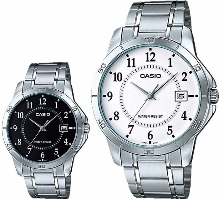 6d5fc3876e76 Casio Reloj Hombre Correa Metálica Resiste Agua Mtp V004 D - U S 38 ...