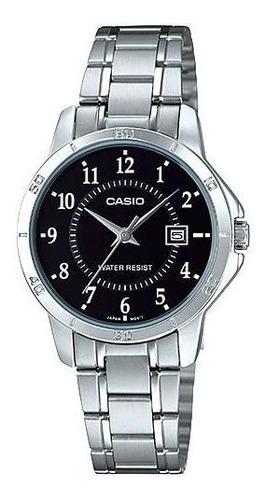 casio - reloj ltp-v004d-1b stainless steel para mujer