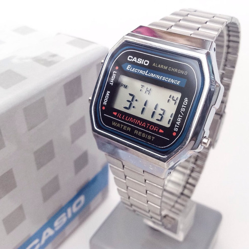 casio retro plata illuminator