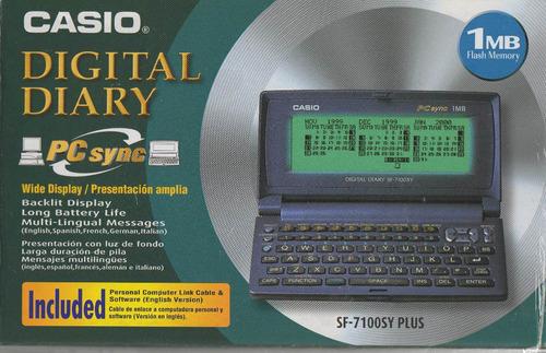 casio sf 7100 sy plus agenda digital