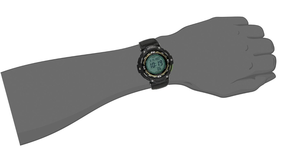 casio sgw-100b-3a2cf twin sensor bússola temperatura preto. Carregando zoom.