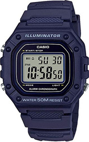 18b3ac9a89c7 Casio W-218h-2avcf Reloj Illuminator Deportivo Para Caballe