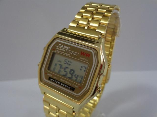91e04f96303 Casio Wr Dourado Retro Vintage Relogio + Frete Por R  35