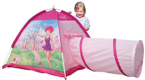 casita carpa infantil niños con tunel haditas iplay pce