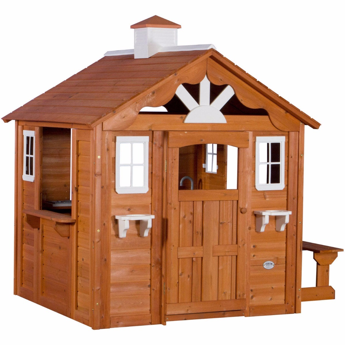 Casita casa de madera para ni os exterior summer cocinita for Casitas de madera para ninos economicas